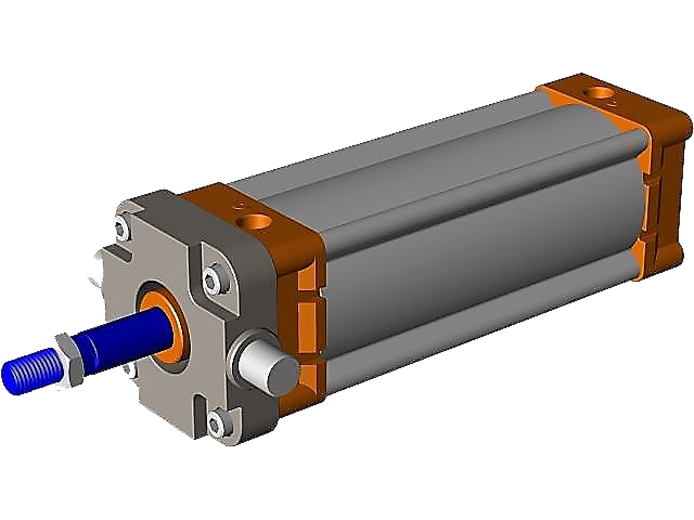 3D Air Cylinder Drawing
